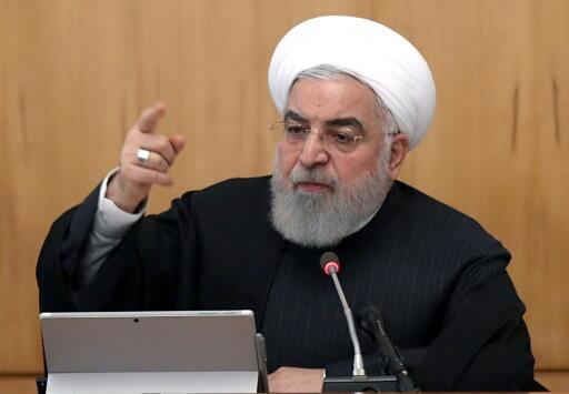 El presidente Hasan Rohani habla durante una reunión del Gobierno iraní, el 15 de enero de 2020 en Teherán