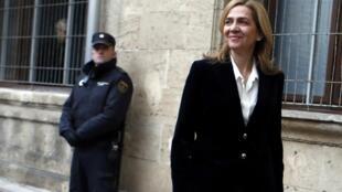 A infanta Cristina, filha mais nova do rei Juan Carlos