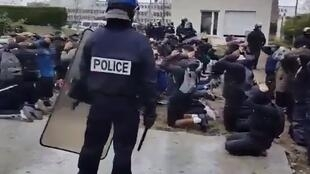 Students in the Paris suburb of Mantes la Jolie arrested by police after Yellow Vest demonstrations