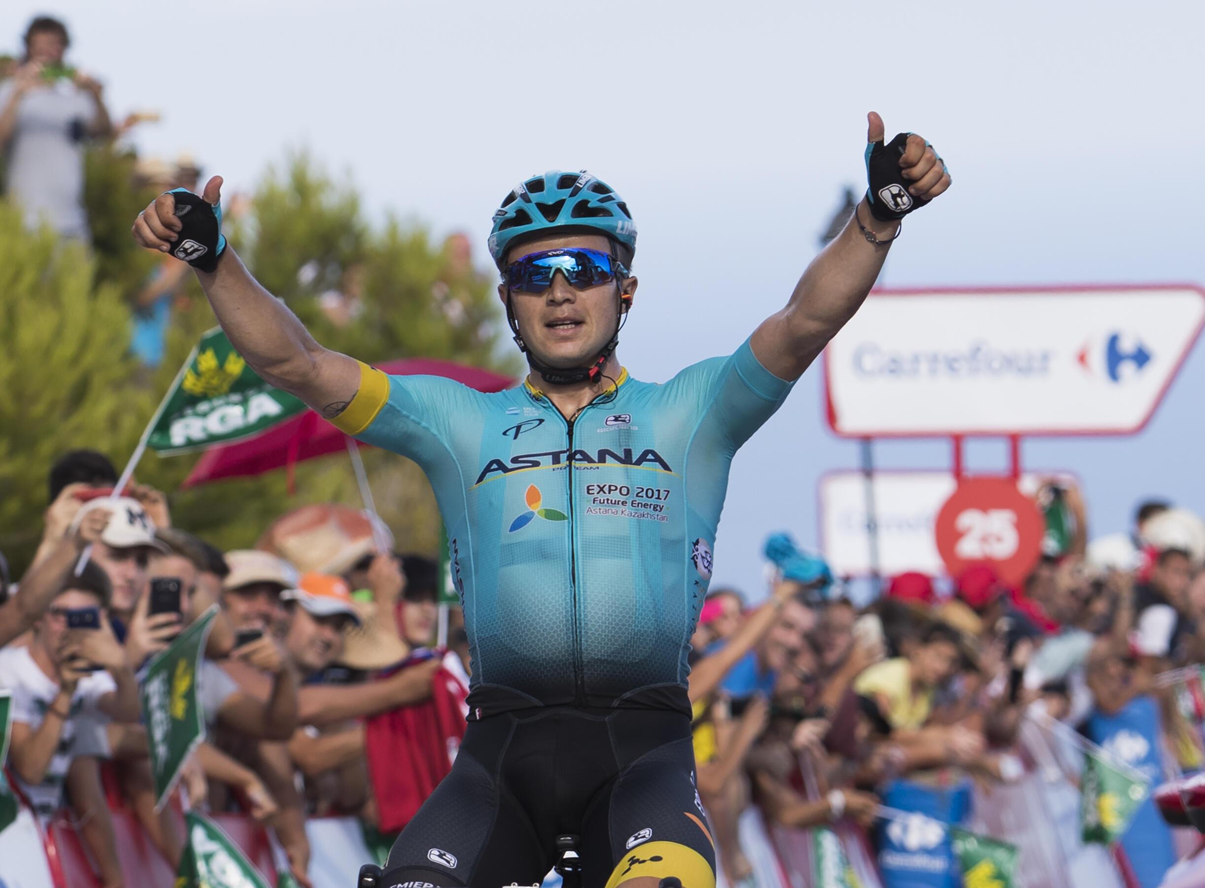 O vencedor da quinta etapa na Vuelta foi Alexey Lutsenko, atleta do Cazaquistão que pertence à equipa Astana.