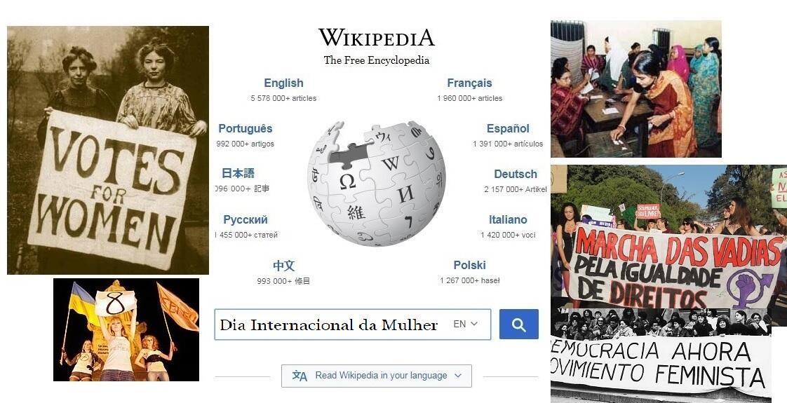 Wikipédia, maior enciclopédia on-line do mundo, registra grande desequilíbrio no conteúdo sobre homens e mulheres.