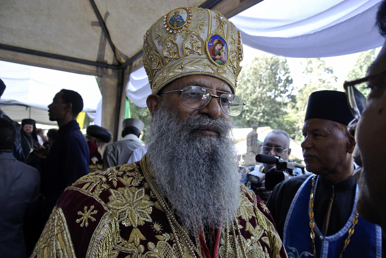 Abune Mathias en Adís Abeba el 3 de marzo de 2013 cuando asumió como patriarca de la Iglesia ortodoxa etíope
