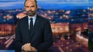 Le Premier ministre français Edouard Philippe au 20h de TF1, le 7 janvier 2019.