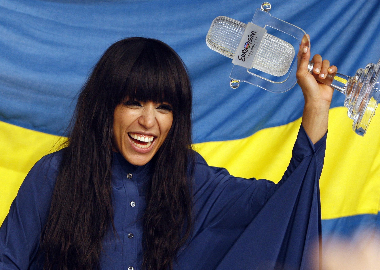 """Победительница """"Евровидения-2012"""", певица из Швеции Лорин. Баку, 27 мая 2012."""