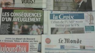 Diários franceses do dia 25.3.2014