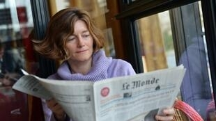 Nathalie Nougayrède, managing editor of Le Monde newspaper in 2013