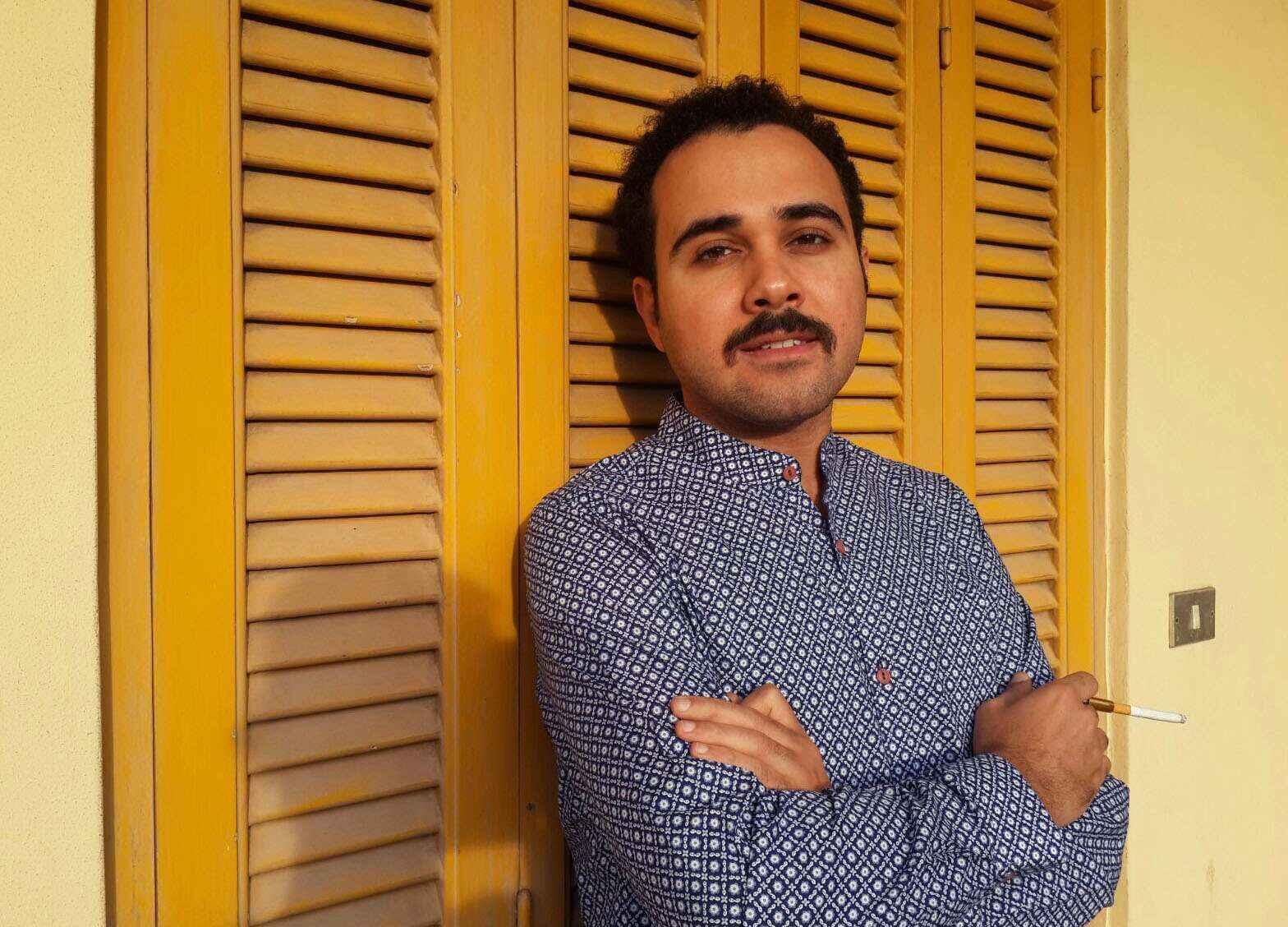 O escritor egípcio Ahmed Naji