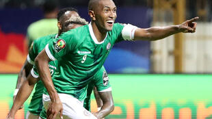 Faneva Andriatsima a inscrit le deuxième but de Madagascar contre la RDC.