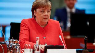 La canciller alemana, Angela Merkel, en una reunión con su gabinete el 24 de junio de 2020 en Berlín