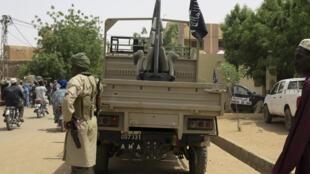 Islamistes du Mujao à Gao au Mali, ville où réside Mokhtar Belmokhtar.