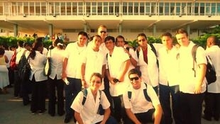 Estudantes brasileiros na Escola Latinoamericana de Medicina (Elam), em Cuba.