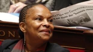 La ministre française de la Justice, Christiane Taubira, à l'Assemblée nationale, le mercredi 13 novembre 2013.