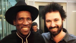 Abou Diarra et Fernando delPapa à RFI.