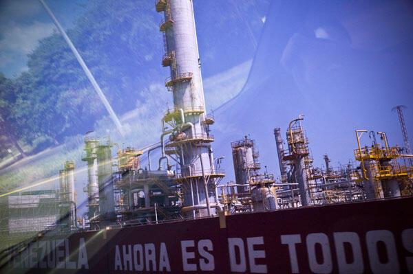 Una refinería de la empresa nacional PDVSA.