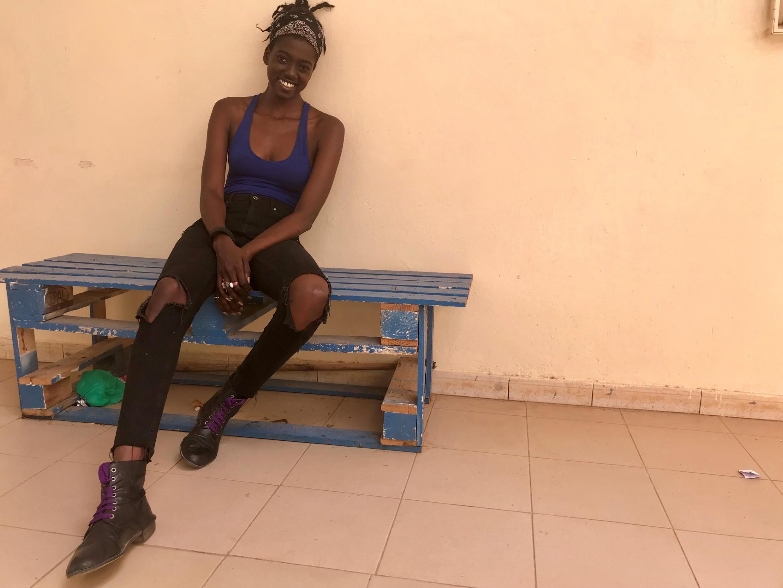 Aïda Sock, comédienne principale qui tient le rôle titre de la prochaine série radiophonique «Dianké»