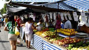 Un marché de São Paulo.
