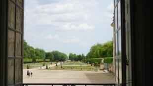 Vue sur le jardin du château de Lunéville.