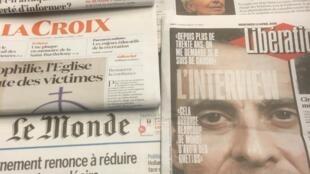 Primeiras páginas dos diários franceses 13/04/2016