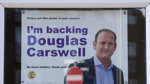 Affiche de campagne du candidat Ukip, Douglas Carswell à Clacton-on-Sea, le 7 octobre 2014