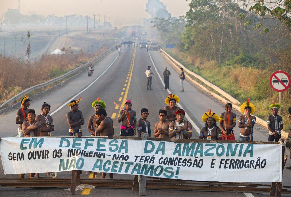 Protesto em defesa da Amazônia