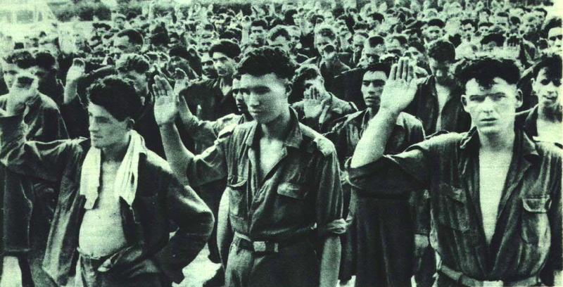 1951年朝鲜战争中被俘联军