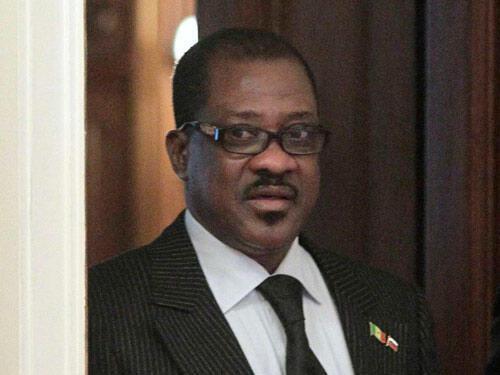 Madické Niang, alors ministre sénégalais des Affaires étrangères à Moscou, le 8 février 2011.