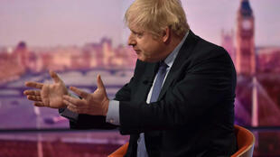 British prime minister Boris Johnson, during a BBC interview, ahead of elections, December 2019.