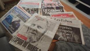 Primeiras páginas  de diários  franceses 24 03 2020