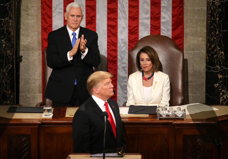 سخنرانی دونالد ترامپ، روز سهشنبه، از ساعت نه شب به وقت واشنگتن، در ساختمان اصلی کنگره آمریکا آغاز شد.