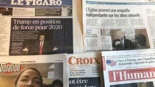 Capas dos diários franceses 08112018