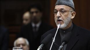 Afghanistan President Hamid Karzai, 21 January 2012