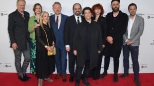 Cъемочная группа сериала «Чернобыль» на кинофестивале Трайбека, Нью-Йорк, 26 апреля 2019