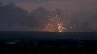 5 августа 2019 г. Взрывы на складе боеприпасов. Вид из Ачинска.