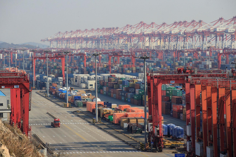 Cuộc chiến thương mại Mỹ-Trung mới chỉ đạt hưu chiến. Ảnh tư liệu : Cảng Dương Sơn, trong khu chế xuất tại Thượng Hải ngày 13/02/2017.