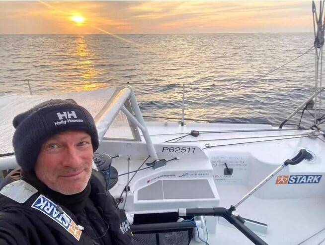 Finnish Ari Huusela skipper on the eve of finishing the Vendee Globe race_4 March_2021_Photo Ari Huusela