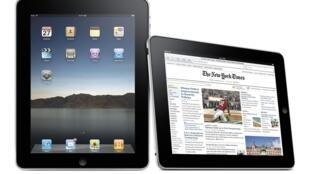 Photo publicitaire pour l'iPad d'Apple.