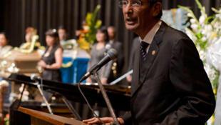 Alvaro Colom, presidente saliente de Guatemala.