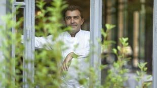 Chef Yannick Alleno of Ledoyen restaurant in Paris