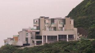 香港山顶的当代豪宅。