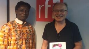Pierre Vincent, metteur en scène et Eric Delphin Kwégoué, écrivain.