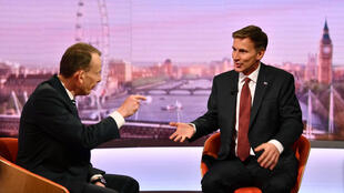 """جرمی هانت، وزیر امورخارجه بریتانیا، میهمان شبکه تلویزیونی """"بیبیسی"""". یکشنبه ٢۶ خرداد/ ١۶ ژوئن ٢٠۱٩"""