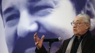 Le réalisateur polonais Andrzej Wajda, lors d'une conférence de presse pour son nouveau film <i>Walesa</i>, à Varsovie, le 24 novembre 2011.