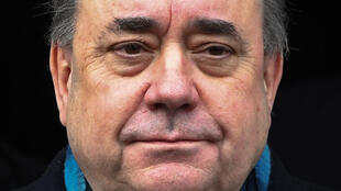 Former Scottish National Party leader and former First Minister of Scotland, Alex Salmond leaves the High Court in Edinburgh on March 23, 2020, after being acquitted of attempted rape and a string of sexual assaults, including one of intent to rape