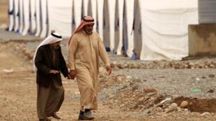 Campo de desplazados de Al-Khazer, en el este de Mosul.
