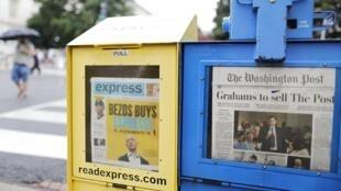 Última edição do Washington Post circula ao lado do anúncio da venda do jornal a Jeff Bezos, CEO da Amazon, nesta terça-feira, 6 de agosto de 2013, na capital americana.