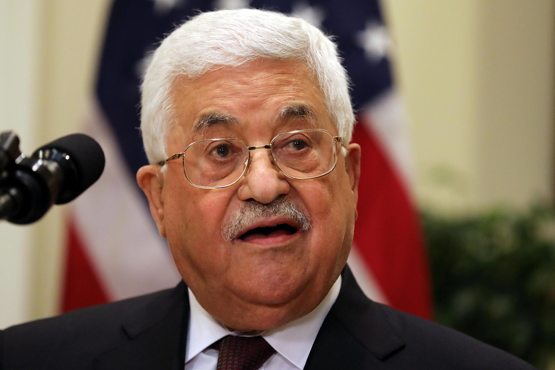 Tổng thống Palestine Mahmud Abbas trong chuyến thăm Washington ngày 03/05/2017.