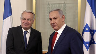 Benyamin Netanyahu et Jean-Marc Ayrault, le 15 mai 2016 à Jérusalem;