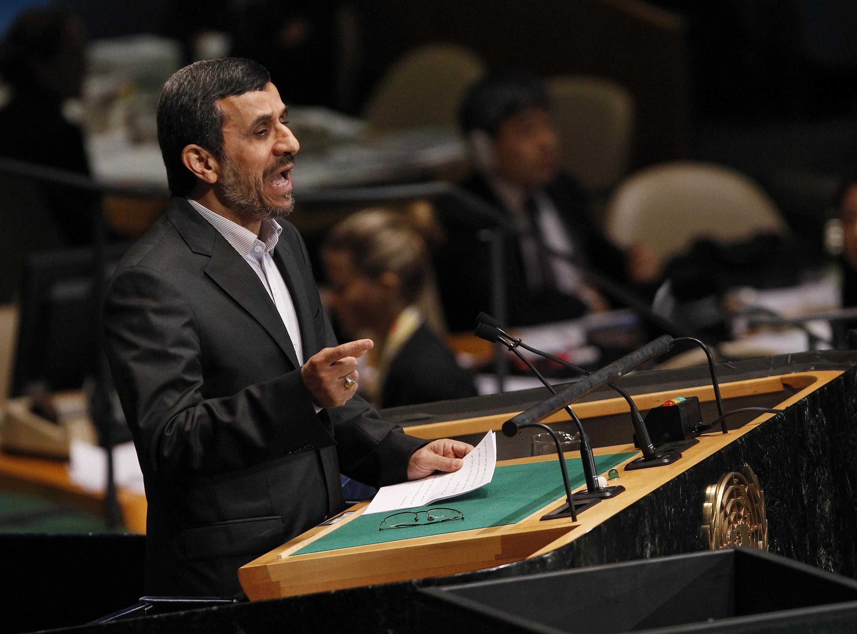 محمود احمدی نژاد، رئیس جمهوری اسلامی ایران درشصت وهفتمین نشست مجمع عمومی سازمان ملل متحد