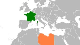 Libya, một quốc gia chiến lược ở khu vực Bắc Phi (mầu vàng cam trong bản đồ)