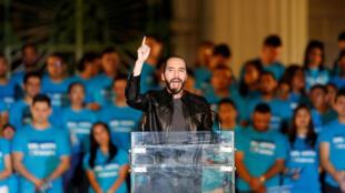 A 37 ans, Nayib Bukele (ici à San Salvador, le 26 janvier 2019) pourrait bien mettre fin au bipartisme au Salvador.